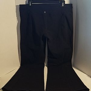 Lululemon Groove Yoga Black Wide Leg Pants Size 12